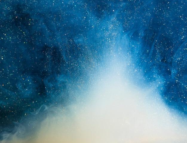 Abstracte blauwe mist met bits