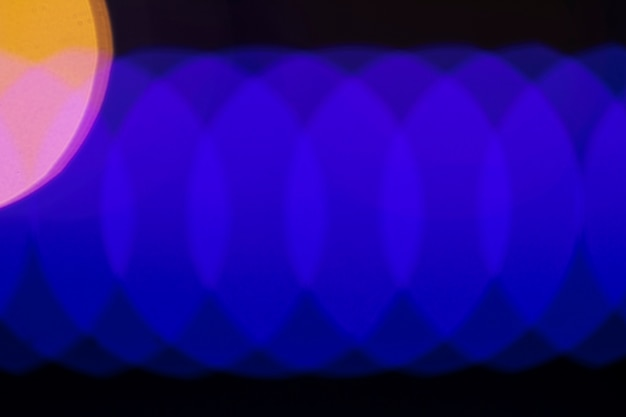 Abstracte blauwe neonlichtkoorden