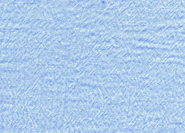 Abstracte blauwe stoffentextuur. blauwe natuurlijke linnentextuur