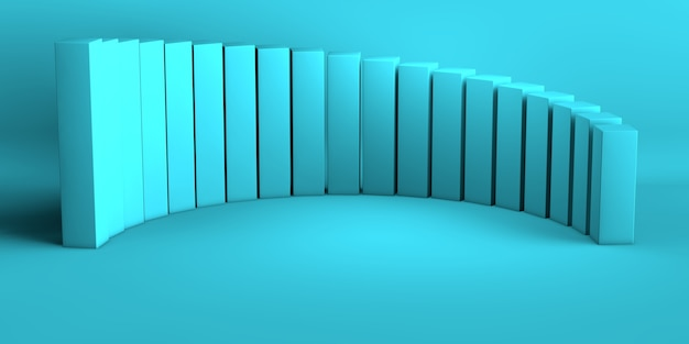 Abstracte blauwe van de achtergrond koraalgradiënt lege ruimte studioruimte voor de advertentiewebsite van het vertoningsproduct. 3d illustratie rendering