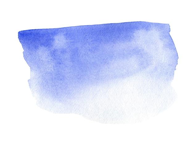 Abstracte blauwe waterverf op witte achtergrond. aquarel clipart voor tekst of logo