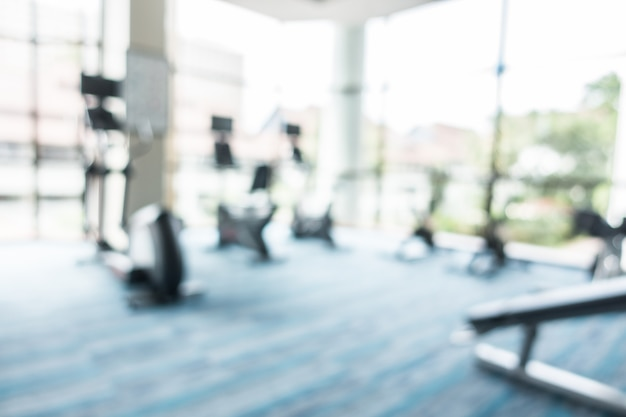 Abstracte blur fitness en fitnessruimte