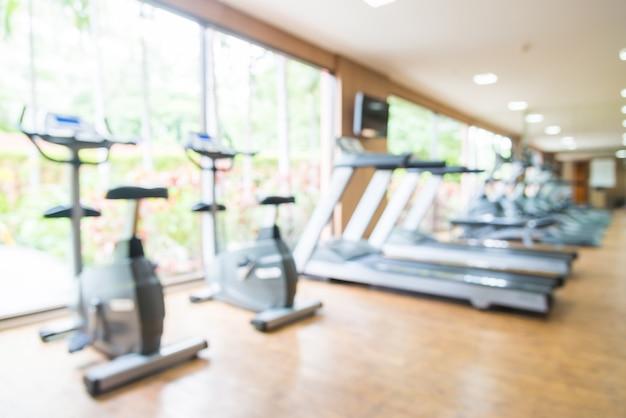 Abstracte blur fitness gym en apparatuur achtergrond