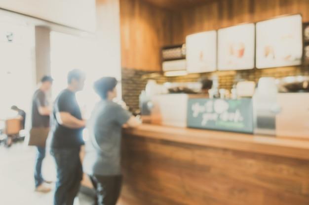 Abstracte blur koffie winkel