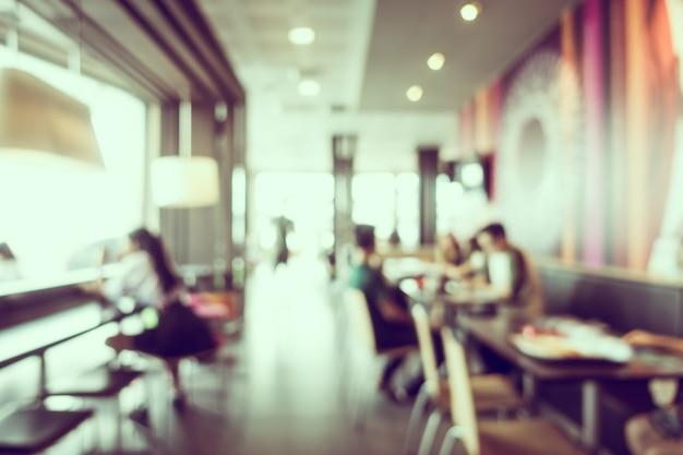 Abstracte blur koffiewinkel en restaurant