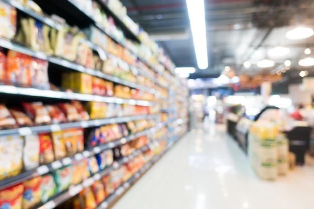Abstracte blur supermarkt in warenhuis