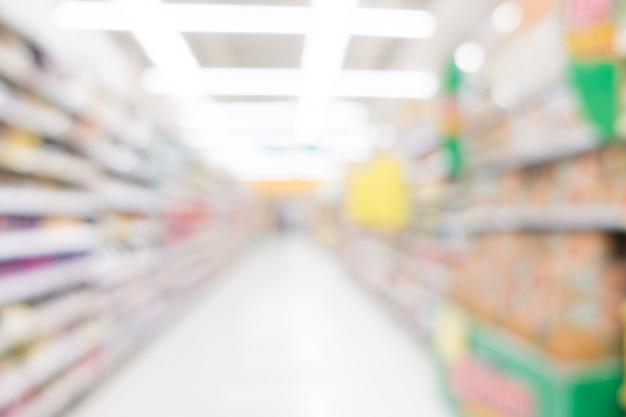 Abstracte blur supermarkt