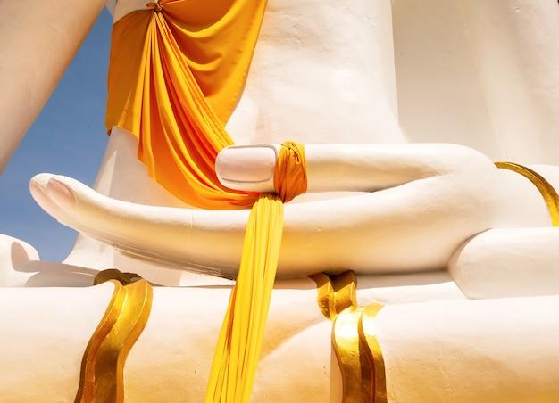 Abstracte boeddha hand close-up