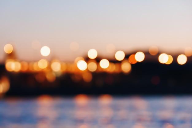 Abstracte bokeh lichten achtergrond