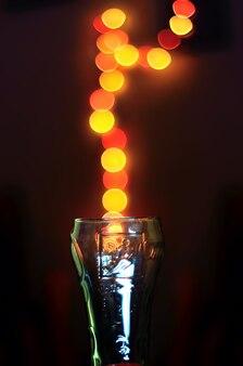 Abstracte bokeh met glas