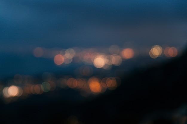 Abstracte bokeh zachte lichtenachtergrond