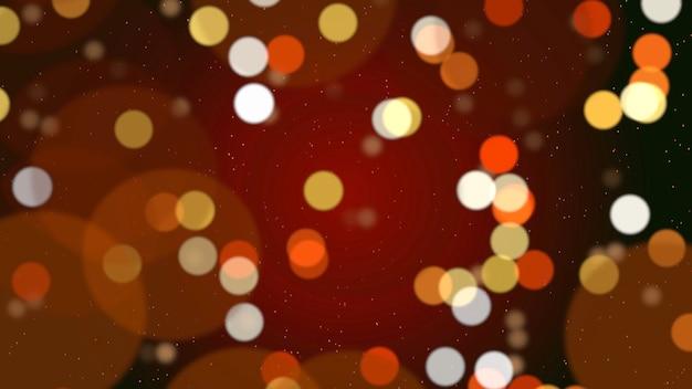 Abstracte bokehdeeltjes die vallen. gelukkig nieuwjaar, vrolijk kerstfeest, gelukkige verjaardag dag glanzende achtergrond. luxe en elegante dynamische stijl 3d illustratie voor wintervakantie