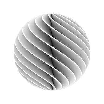 Abstracte bol. geïsoleerde 3d-weergave