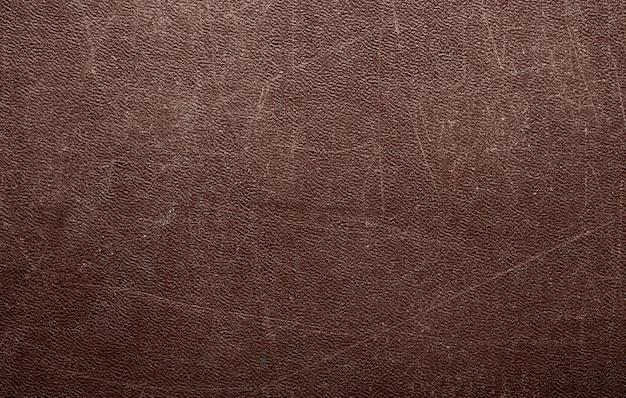 Abstracte bruin lederen textuur achtergrond
