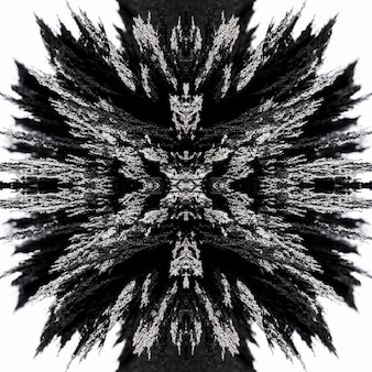 Abstracte caleidoscoop magnetische metalen scheerachtergrond