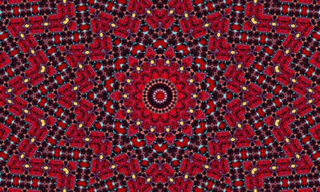 Abstracte caleidoscoopachtergrond. mooi caleidoscoop naadloos patroon. kleurrijke mozaïektextuur. naadloze caleidoscooptextuur