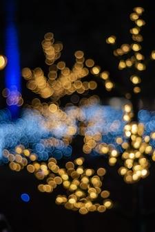 Abstracte cirkelbokeh van vaag licht