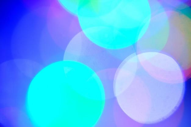 Abstracte cirkelvormige bokeh van christmaslight