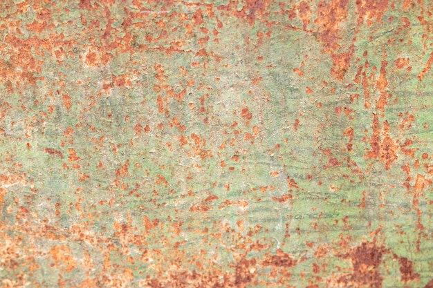 Abstracte close-up van roestig metalen behang
