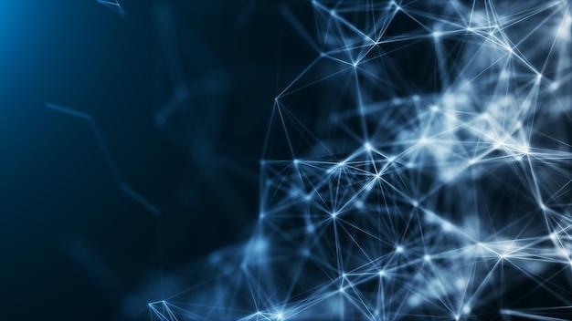 Abstracte communicatie lijn verbinding technologie big dat netwerk concept