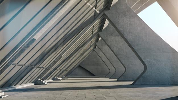 Abstracte concrete geometrische structuurachtergrond. 3d-weergave