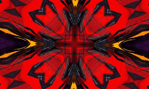 Abstracte coole cross caleidoscoop motief x, super resolutie voor uw project.