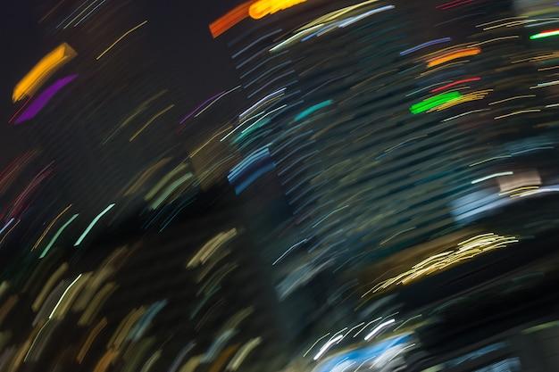 Abstracte de bouw van de nacht futuristische samenvatting