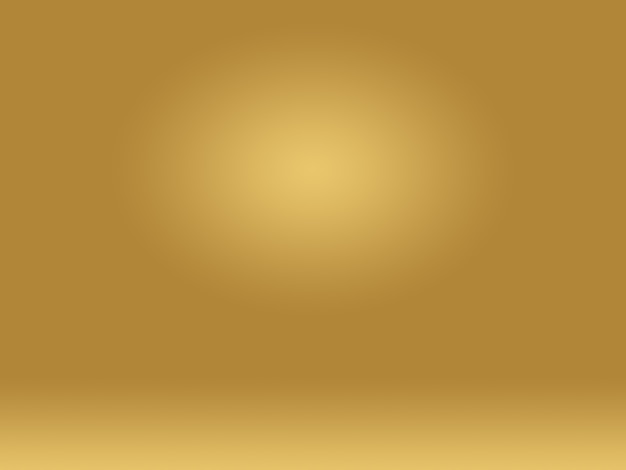 Abstracte de studiomuur van de luxe gouden gele gradiënt