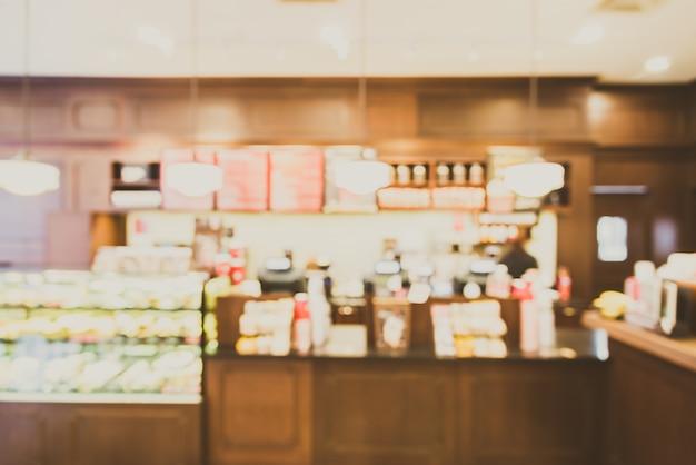 Abstracte de winkel binnenlandse achtergrond van de onduidelijk beeldkoffie