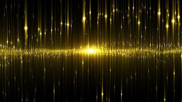 Abstracte digitale gloeiende achtergrond van de neonlicht gouden kleur.