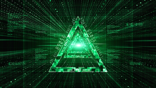 Abstracte digitale matrix deeltjes stroom achtergrond