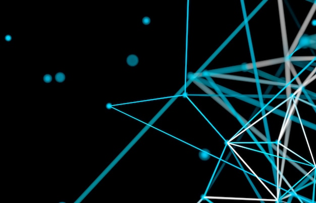Abstracte digitale technische achtergrond. netwerkverbindingsstructuur.