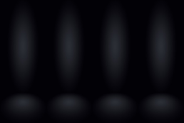 Abstracte donker grijze sjabloon lege ruimte donkere kleurovergang muur. donker grijze lege kamer studio kleurovergang gebruikt voor montage of weergave van uw producten.
