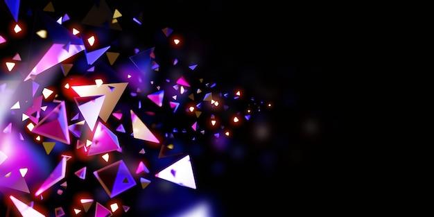 Abstracte driehoek achtergrond technologie scène concept 3d illustratie