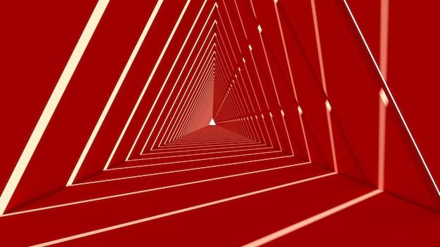Abstracte driehoeksvorm op rode achtergrond