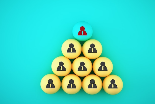 Abstracte foto van human resource management en recruitment business team, verbindende entiteiten, hiërarchie en hr