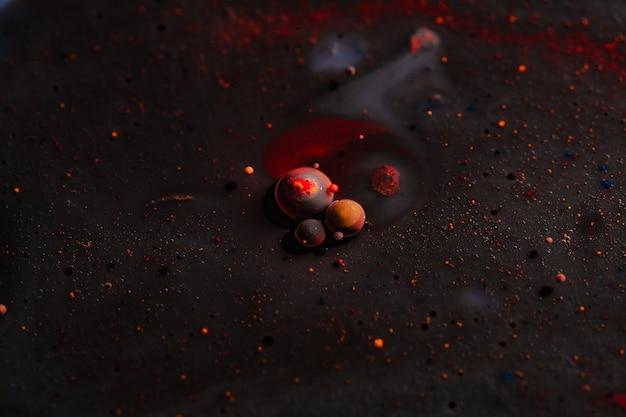 Abstracte fotografie van bellen. macro wereld. creatieve kunstfotografie.