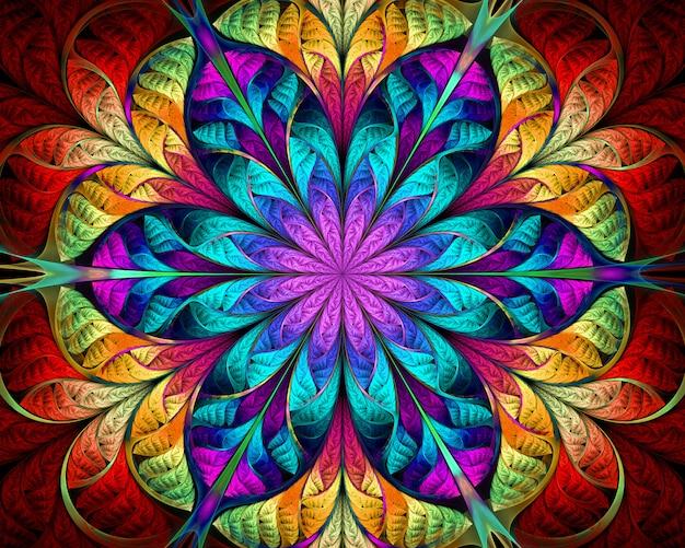 Abstracte fractal. fractal kunstachtergrond voor creatief ontwerp.