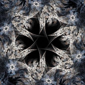 Abstracte fractal met sterontwerp