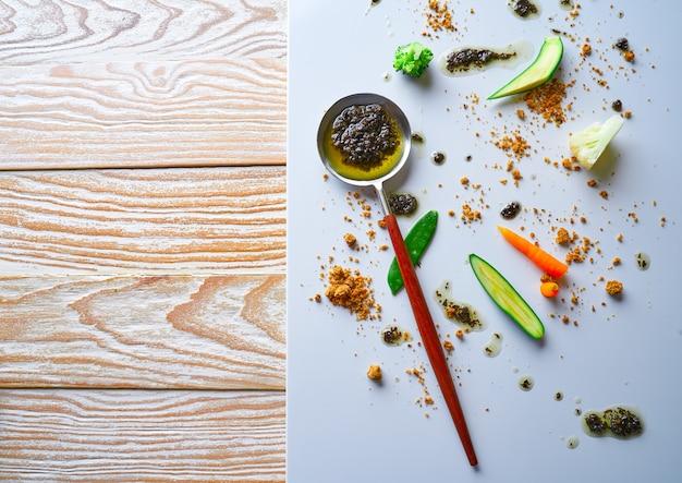 Abstracte gastronomie voorhoede concept moleculaire keuken