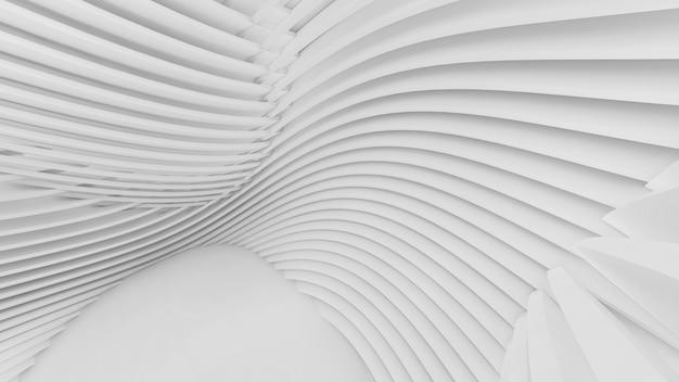 Abstracte gebogen vormen. witte ronde achtergrond. abstracte achtergrond. 3d-afbeelding