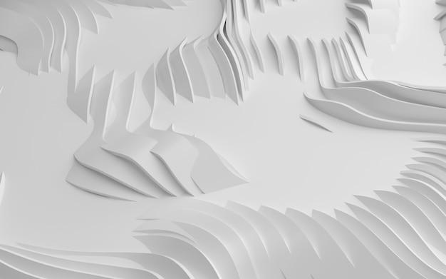 Abstracte gebogen vormen. witte ronde achtergrond.