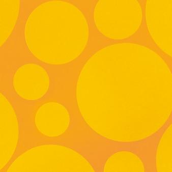 Abstracte gele achtergrond met cirkelelementen