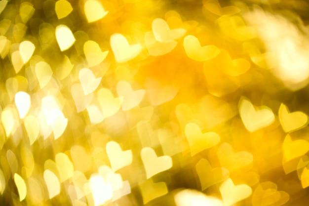 Abstracte gele achtergrond met hart