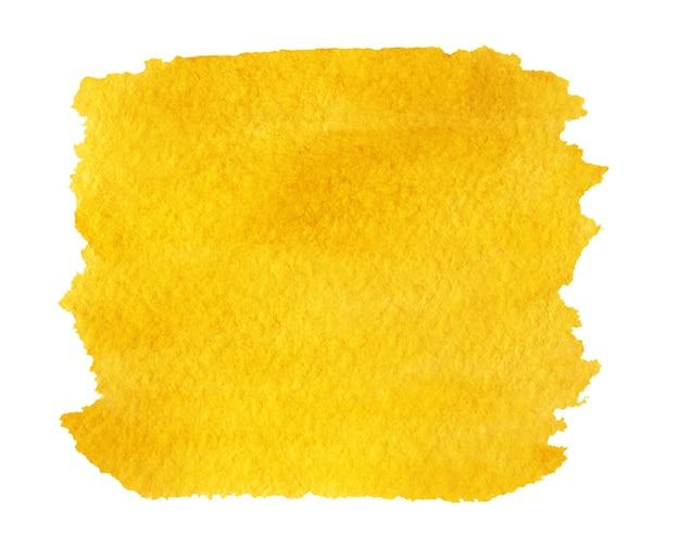 Abstracte gele helder geschilderde achtergrond geïsoleerd op wit