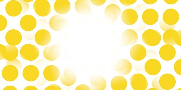 Abstracte gele stip op witte achtergrond