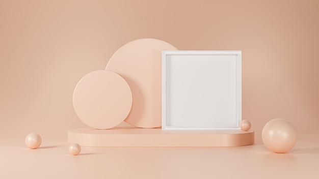 Abstracte geometrie. 3d-rendering scène voor het tonen van producten