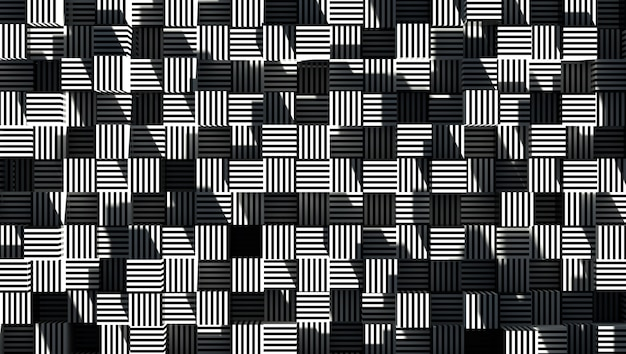 Abstracte geometrie gestreepte achtergrond 3d render
