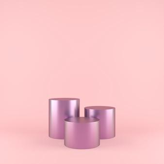 Abstracte geometrie vorm achtergrond met podium minimalistisch