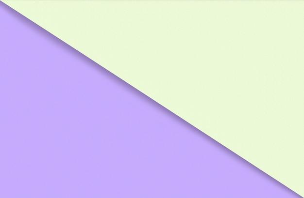 Abstracte geometrische aquarel papier achtergrond in zachte pastel gele en paarse trendkleuren met d...